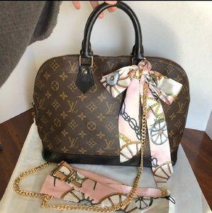 Authentic Louis Vuitton Alma handbag.